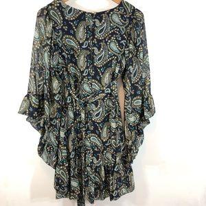 Betsey Johnson Dresses - Betsey Johnson babydoll paisley bell sleeve dress